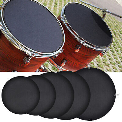 UK 10x Professional Durable Bass Snare Drum Mute Silencer Drumming Practice Pad