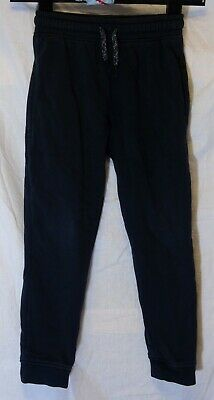Boys Next Plain Black Drawstring Waist Cuffed Comfy Casual Joggers Age 7 Years