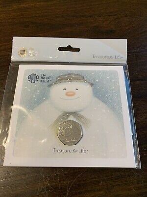 Royal Mint Snowman 50p Coin 2018 BU New and Sealed Presentation Pack