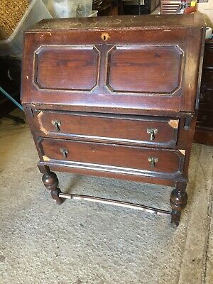 Vintage Writing Bureau Bureaux Home Office Traditional For Restoration 2/12/C