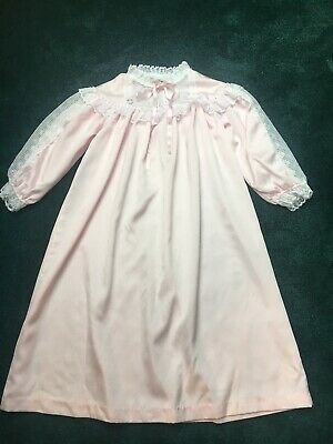 VINTAGE LAURA DARE PINK Polyester SIZE 7 FLAME RETARDANT  NIGHTGOWN USA
