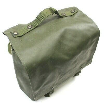 VINTAGE CZECH ARMY m85 PVC GAS MASK BAG / SHOULDER BAG