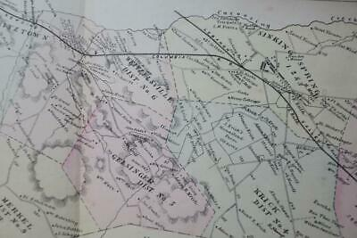 1876 SPRING TOWNSHIP MAP,SINKING SPRING BERKS COUNTY PA,Railroads,Owners,Roads
