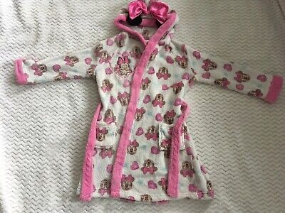 Girls Disney Minnie Mouse Fleece Dressing Gown. 5-6 Years.