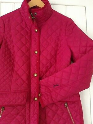 Joules Newdale Quilted Jacket/Coat Size 12 Ruby/Pink New Without Tags