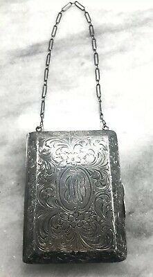 Antique Victorian Sterling Silver Calling Dance Card Case Coin Purse
