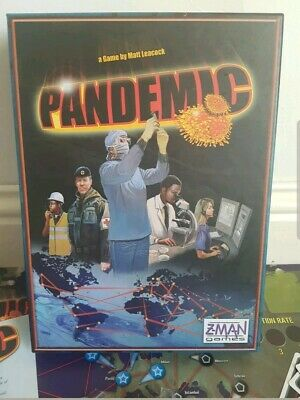 Pandemic Board Game -  Z-MAN GAMES ZMG 7021 2007 Boxed & Complete FREE 24hr Post