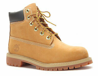 "Authentic Timberland 6"" Premium Big Kids Ankle Boot - Wheat Nubuck [TB012909713]"