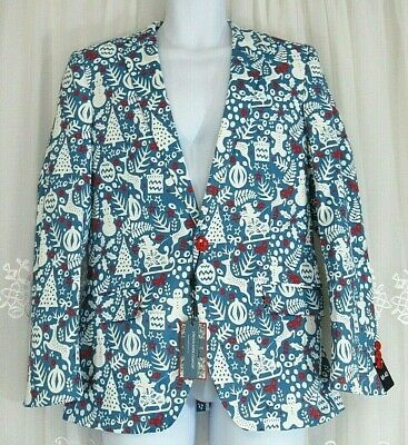 New Mens Suslo Couture Cookie Cutter Tacky Holiday Suit Jacket Blazer 40 M Slim