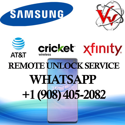 Samsung Galaxy S7 S8 S9 NOTE 8 from ATT, Cricket & Xfinity Remote Unlock Service