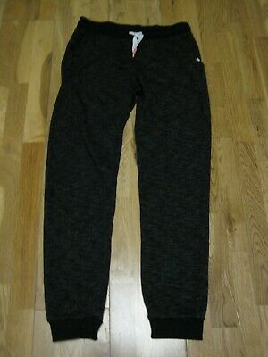 Girl's Black & Dark Grey Jogging Bottoms/ Trousers by H&M.  Age 10-11 Years / 14
