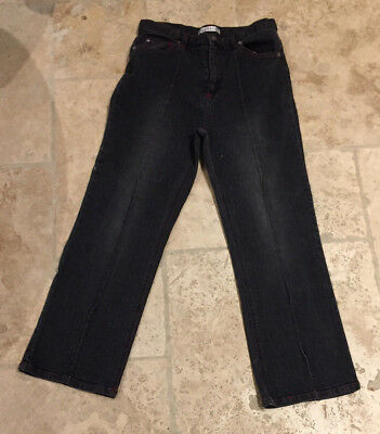 Girls Cropped Denim Trousers - Age 11 - 12 Years