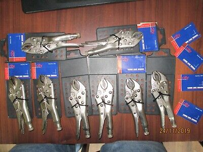 130mm lock wrench mole grips job lot pack of 12