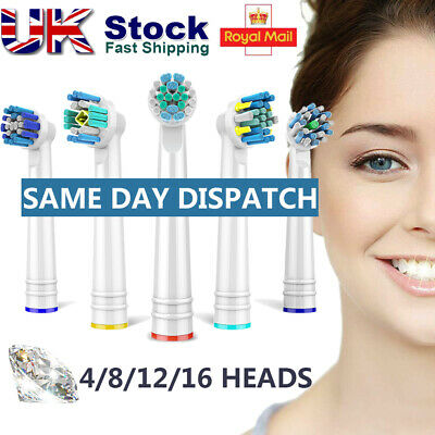 4-16PCS Precision Electric Toothbrush Replacement Brush Heads For Oral B Braun