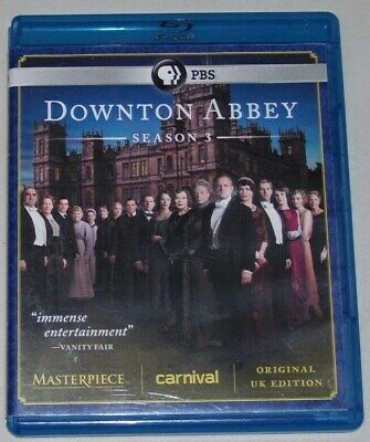 Downton Abbey: Complete Third Season (Blu-ray, 2013, 3-Disc Set) Great Condition