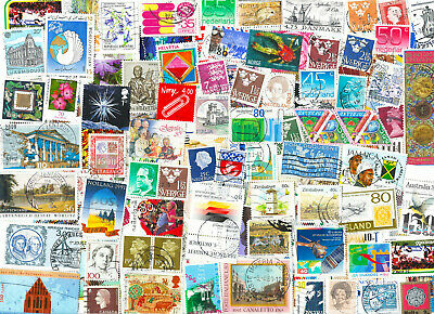 1000 stamps worldwide mixture off paper kiloware with good variety, cheap lot.