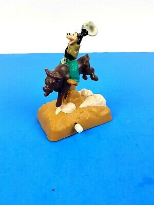 """1995 Rodeo Wind-Up Toy 3.25/"""" Burger King Action Figure Goofy /& Max Adventure"""
