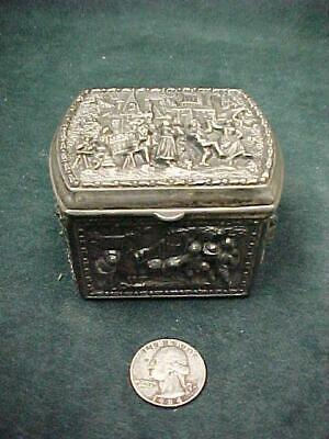 Antique Jennings Brothers Silver Plate 1379 Jewelry Casket Box  Dancing Motifs R