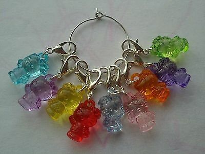 9 X Cute Hello Kitty Charms Stitch Markers Knitting Crochet