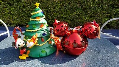 Disneyland Holiday Christmas Tree Popcorn Bucket And Jingle Bell Sipper