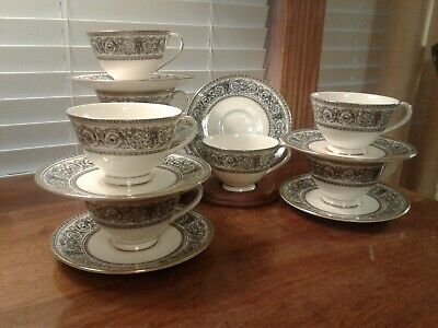 Royal Doulton Fine Bone China H 4999 Baronet Teacups And Saucers 8 Available