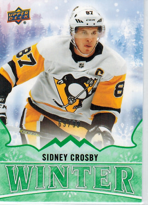 2019 Upper Deck Singles Day Winter Green /99 Sidney Crosby W-15