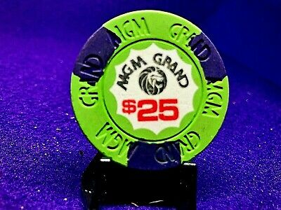 RARE $25 MGM GRAND LV RATED R SU R7 HOUSE MOLD 9th iss LOW BK $175.W/CAP