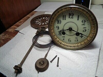 Antique-French-Clock Movement-Ca.1900-To Restore-#K106Y
