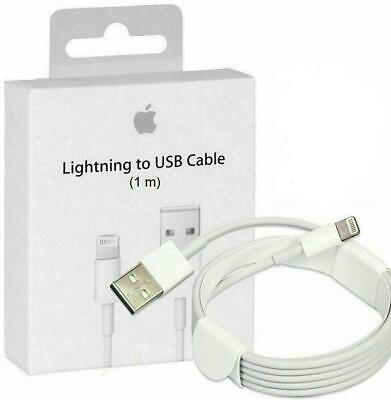 High Quality Genuine Apple 1M Lightning Charger Cable iPhone iPad 7 X 8 6 5