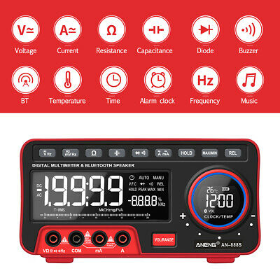 ANENG AN888S True RMS Digital BT Audio Multimeter Voltage Current Alarm Meter