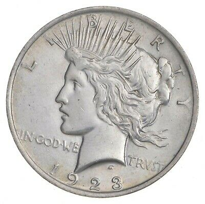 Early - 1923 - Peace Silver Dollar - 90% US Coin *021