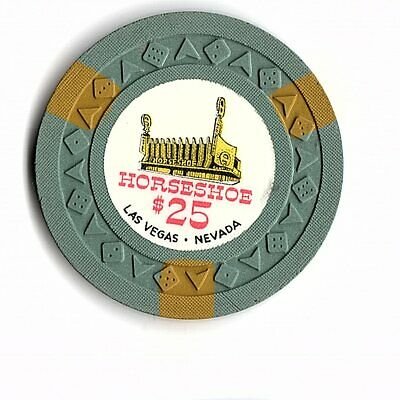 Obsolete 1951 $25 Chip From Famous Horseshoe Casino In Vegas Arodie Mold!