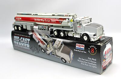 Exxon Mobil 1999 Diecast Coin Bank Tanker Truck Tiger Oil Drop Boy