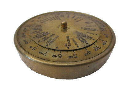 Brass World Timer - Little and Very Nice - Nautical / Marine -FREE SHIPPING(146)