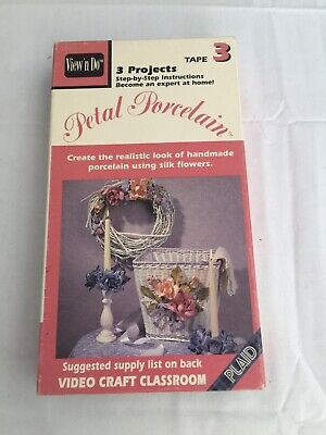 Craft Insructional VHS Floral Art