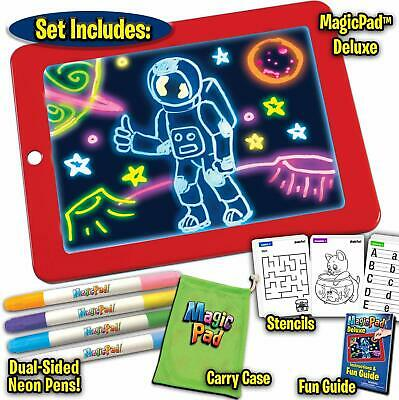 UK Magic Pad Light Up Drawing Pad with Neon Pen Creative Glow Art Light Effect