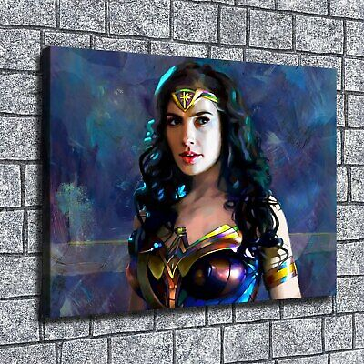 "12""x16""Wonder Woman HD Canvas print Home decor Room Wall Art Paintings Pictures"
