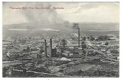 OLD POSTCARD Tasmania Gold Mine Beaconsfield  c.1900's