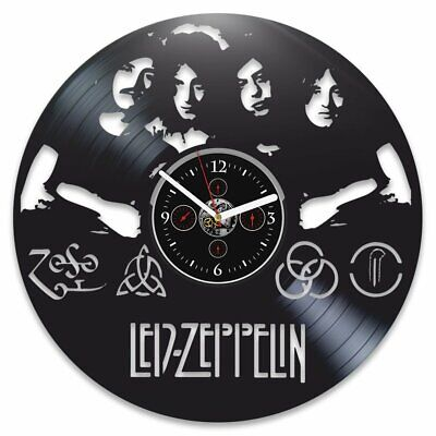 Led Zeppelin Vinyl Record Clock Rock Band Xmas Gift for Father Music Home Decor