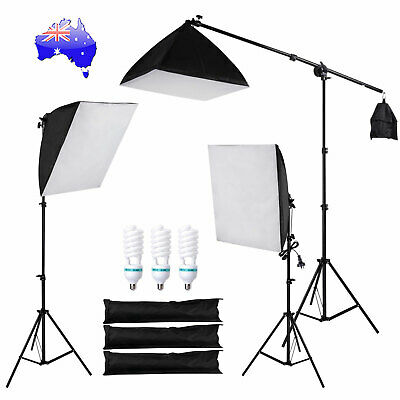 Photography Studio Continuous Lighting Softbox Soft Box Light Stand Kit