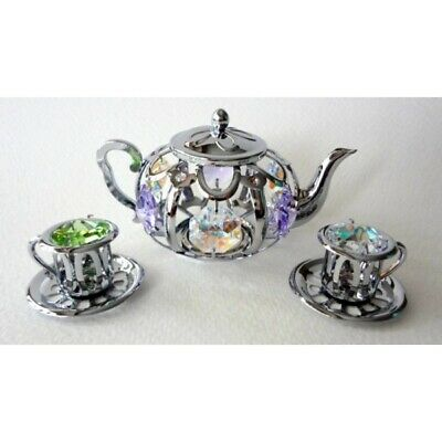 Crystal Crystocraft Tea Set Ornament With Swarovski Elements (with Box)