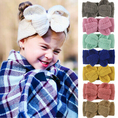 Newborn Baby Kids Girls Knitted Crochet Headband Hair Band Winter Ear Hair Warm