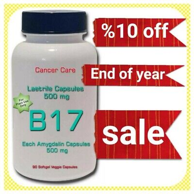 Pharmaceutical B17 Vitamin 500 mg - purest available 100% laetrile