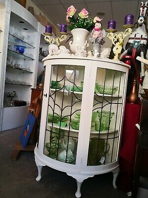 Vintage Antique Leadlight China Display Cabinet - Newly Restored & Refurbished