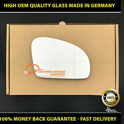 Left Passenger Side WIDE ANGLE HEATED WING MIRROR GLASS Mercedes SLK R172 11-On