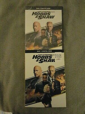 Fast And Furious Presents HOBBS & SHAW (DVD+DIGITAL) w/Slipcover.....
