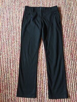 Girls Black  School Trousers By Marks And Spencer Age 13-14 Short