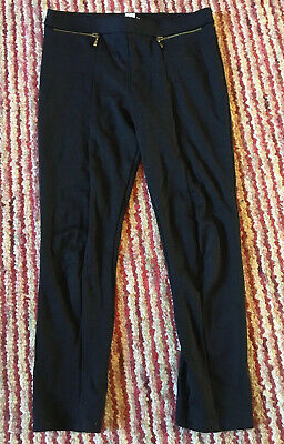 Girls Black Trousers By River Island Age 9/10  Years Hardly Worn