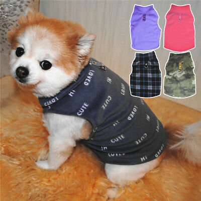 5Sizes Fleece Winter Dog Clothes Small Large Big Dogs Pet Coats Vest Jacket