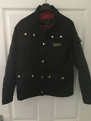BARBOUR GIRLS BLACK INTERNATIONAL JACKET SIZE XL 12-13 Years